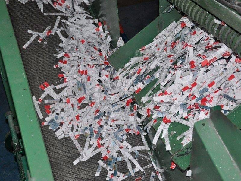 Recolha e destruição de documentos