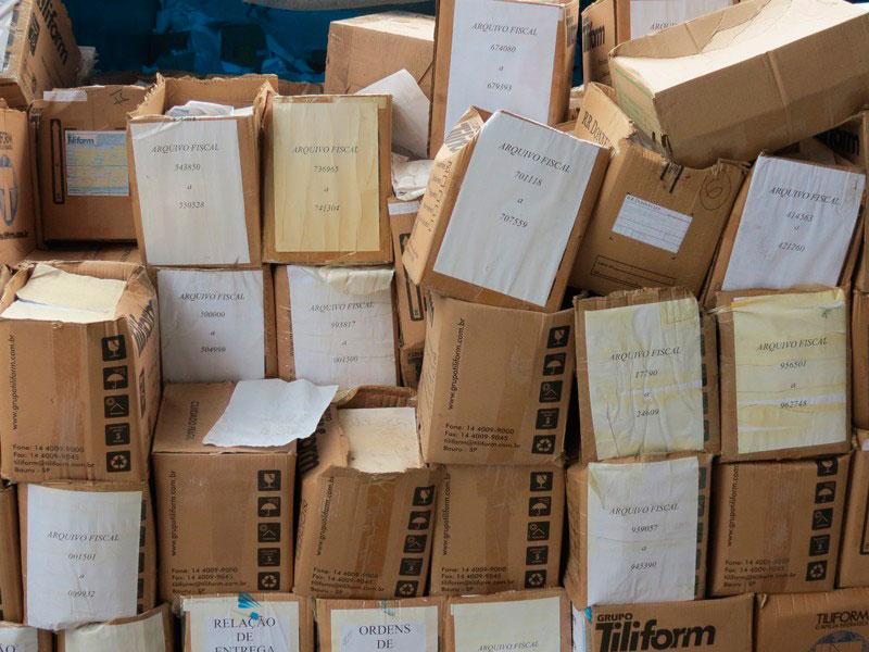 Serviço de fragmentação de papel