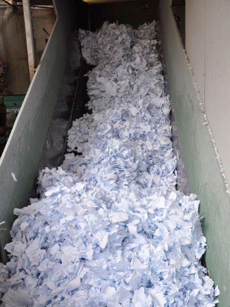 Trituração de documentos